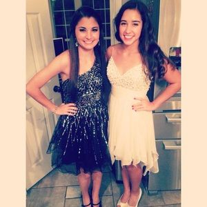Black Sequin Homecoming/Prom Dave & Johnny Dress